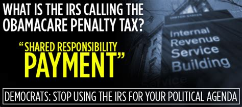 the irs is actually calling the obamacare penalty tax a