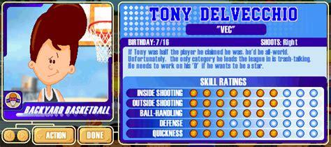 backyard sports player profile 20 of 30 tony delvecchio