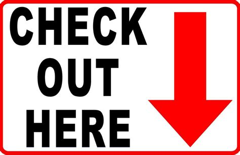 News To Check Out 2 by Check Out Here Sign With Arrow 2 Sided Signs By