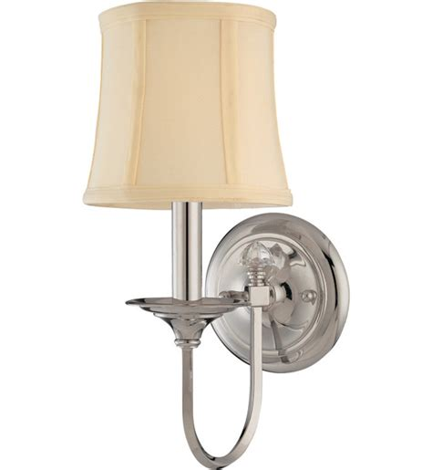 Polished Nickel Wall Sconce Hudson Valley 1811 Pn Rockville Polished Nickel 1 Light Wall Sconce Ls
