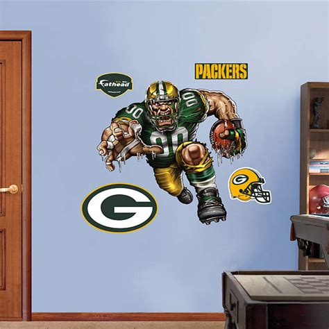 green bay packers wall stickers pumped packer wall decal shop fathead 174 for green bay packers decor