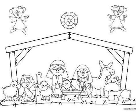 dibujos navideños para colorear portal belen dibujos de portal de belen imagui