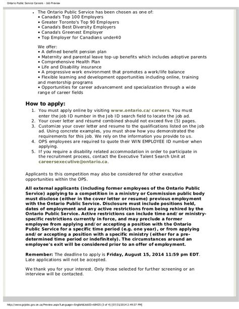cover letter ontario ontario service writing a cover letter and resume