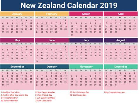 printable monthly calendar new zealand new zealand calendar 2019 with holidays printcalendar xyz