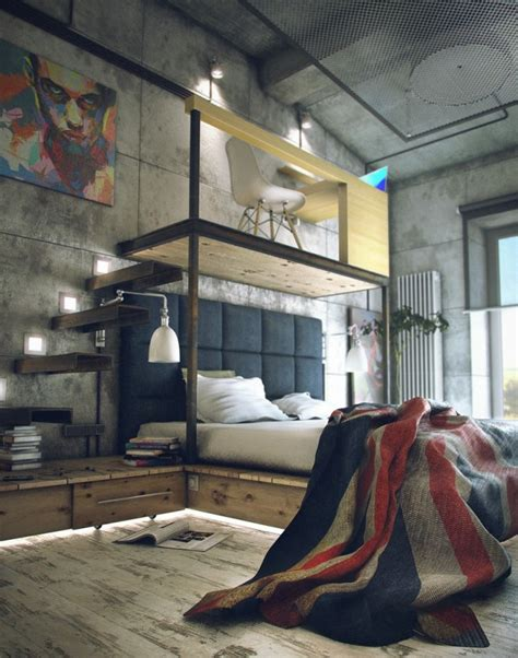 industrial lofts casual industrial loft with rough romance digsdigs