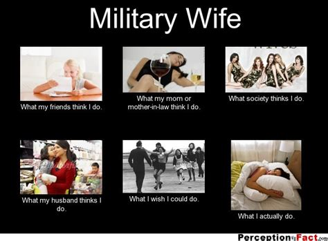 military wife what people think i do what i really