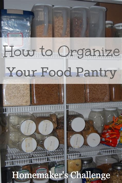 How To Organize Food Pantry by How To Organize Your Food Pantry