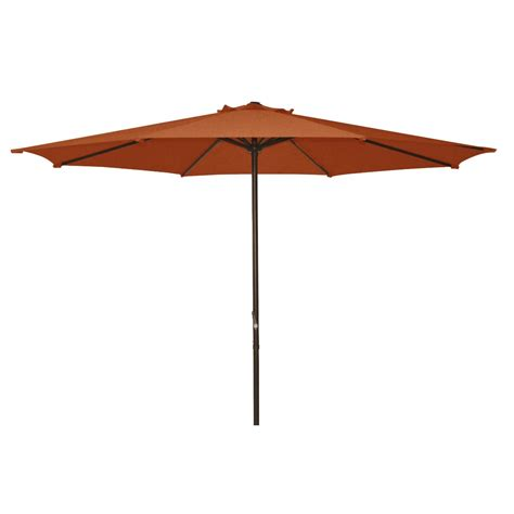 9 Foot Patio Umbrella Fastfurnishings 9 Foot Patio Umbrella With Terra Cotta Polyester Fabric Shade