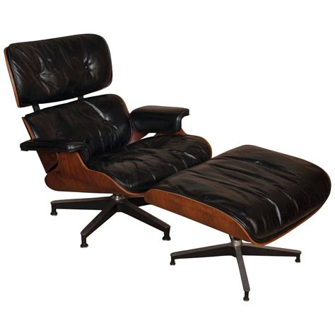 charles eames lounge chair ottoman charles and eames lounge chair and ottoman at 1stdibs