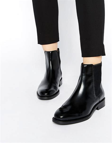 asos asos abingdon leather chelsea ankle boots at asos