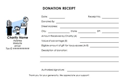 donation receipt letter for tax purposes