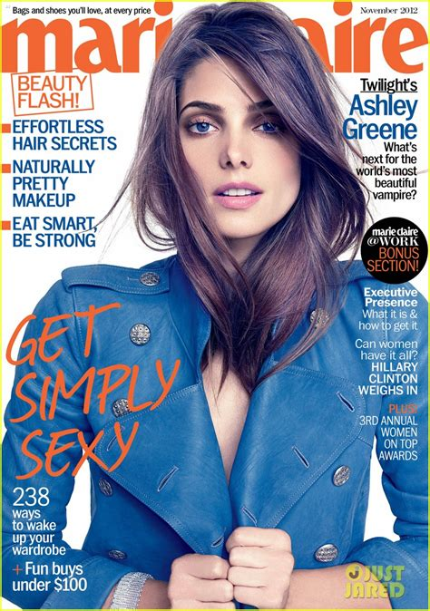ashley greene magazine cover ashley greene covers marie claire november 2012 on the