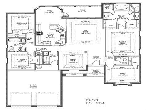 non open floor plans split bedroom ranch house plans