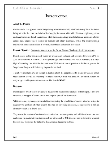 Breast Cancer Essay by Breast Cancer College Essays