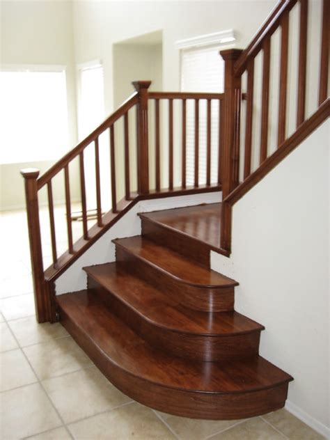 wood staircases wood stairs traditional staircase las vegas by jd