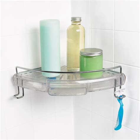 bathtub corner caddy oxo good grips press sure corner caddy the container store