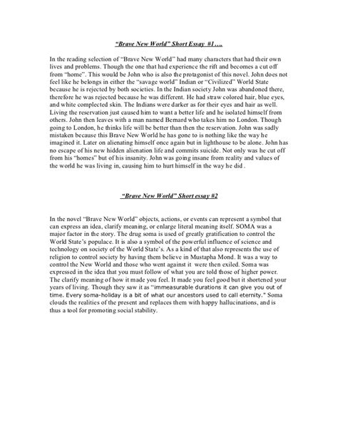 thesis statement for brave new world technology brave new world essay writefiction581 web fc2