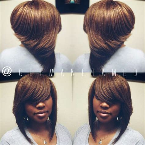 sew in long bob weave no leave full sew in no leave out bob cut razor cuts ombre