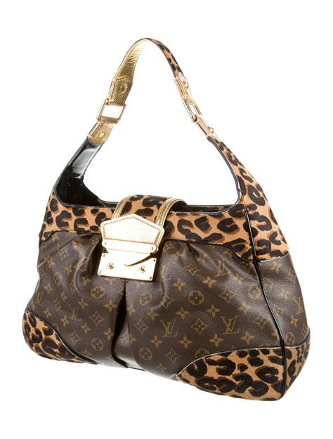 louis vuitton monogram leopard polly bag handbags