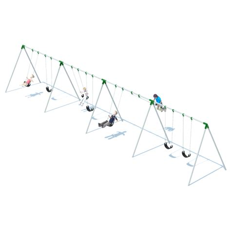 swing bi 4 bay bi pod swing frame swing sets