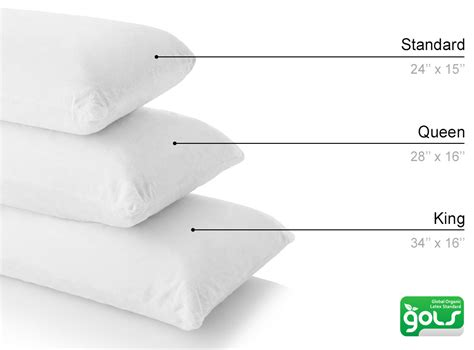 Standard Pillow Measurements by Organic Shredded Pillow