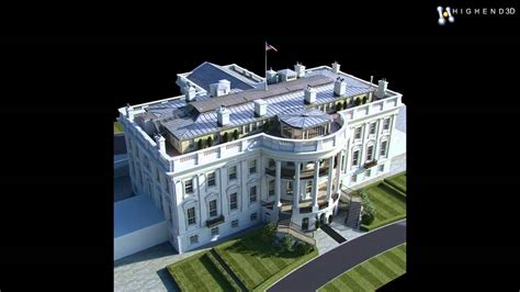 white house model white house 3d model from creativecrash com youtube
