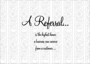 a referral thanks business referral cards from cardsdirect