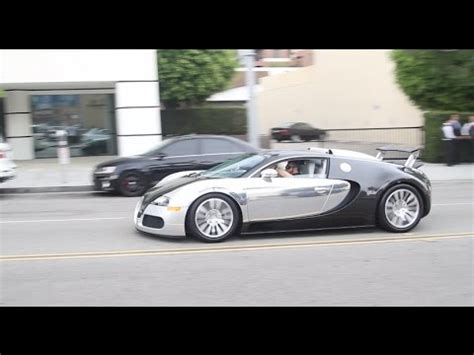 Rory Mcilroy Bugatti Chrome And Carbon Fiber Bugatti Veyron In Beverly