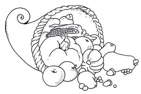 blank cornucopia coloring page free coloring pages of empty cornucopia