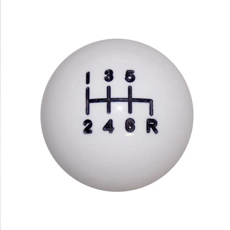 What Is A Shift Knob by 1 7 8 Quot White C4 6 Speed Right Shift Knob