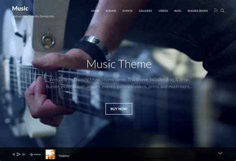 wordpress themes free music artists music artists events portfolios photographers and apps