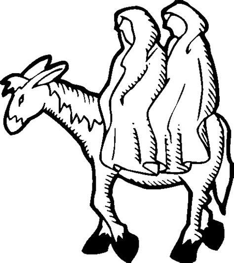 christmas donkey coloring page mary joseph and donkey colouring pages
