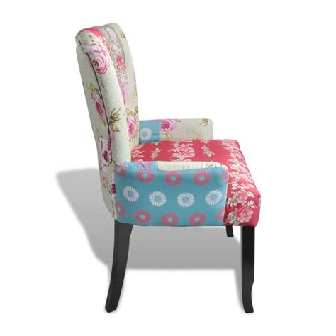 patchwork chairs patchwork chair upholstered armrest relax multi coloured