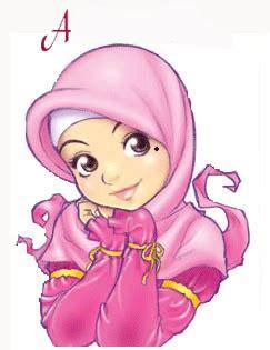 wallpaper wanita cantik bergerak gambar kartun muslimah cantik berhijab animasi bergerak