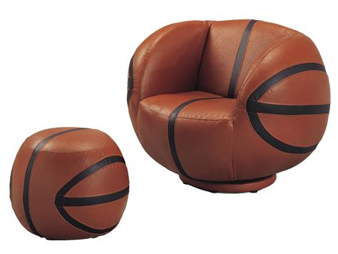basketball chair and ottoman crown mark kids sport chairs 7002 basketball swivel chair