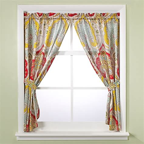 echo design jaipur bathroom window curtain panel pair
