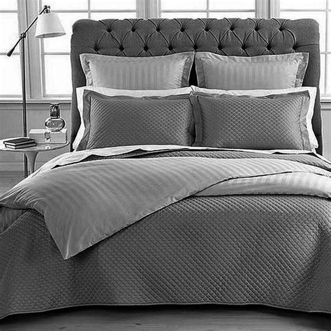 Charter Club Damask King Quilted Coverlet Set Slate New Ebay