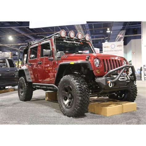 jeep jku rugged ridge 11504 22 rrc rocker guards black 07 15 jeep