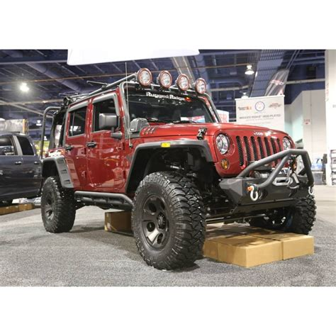 Jeep Wrangler Rocker Guards Rugged Ridge 11504 23 Rrc Rocker Guards Black 07 15 Jeep