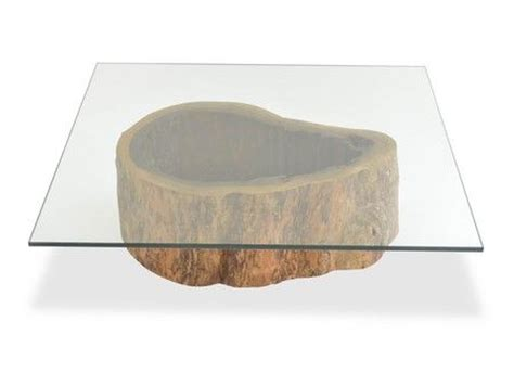 Tree Trunk Glass Coffee Table Salvaged Hollow Trunk Coffee Table Square Glass Top Coffee Table Base Made Of A Hollow Trunk