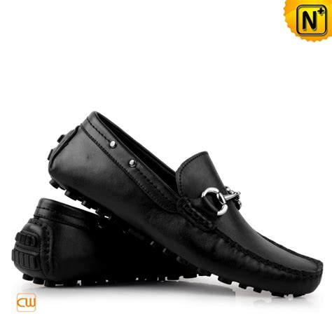 black leather loafer shoes mens hardware horsebit black leather loafer shoes cwmalls