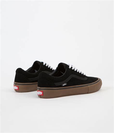 Vans Oldskool Black Gums vans skool pro shoes black gum gum flatspot