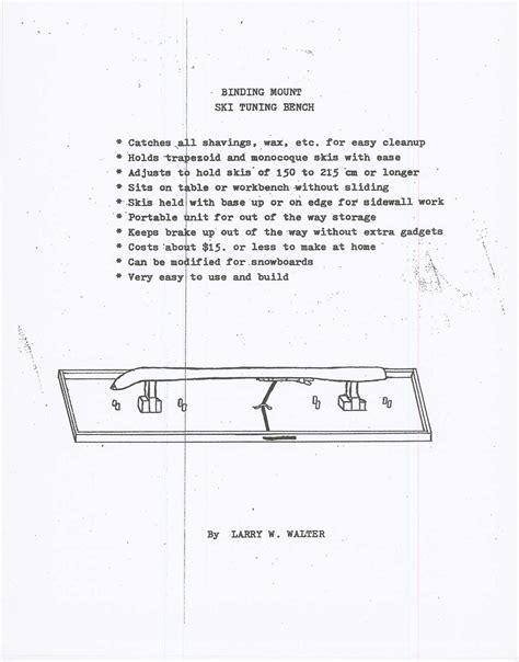 snowboard tuning bench wood work snowboard tuning bench plans pdf plans