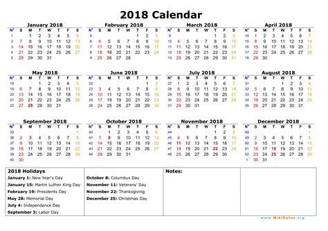 cute 2018 calendar 2018 calendar with holidays