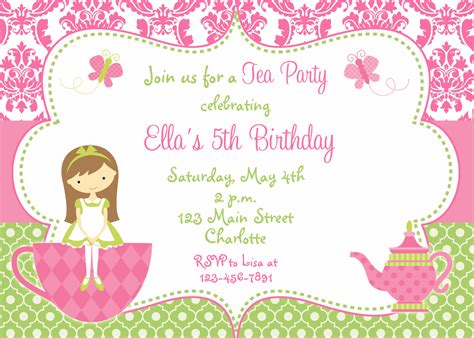 for your birthday tea birthday invitations vertabox