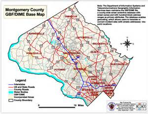 montgomery county map printable map maryland counties