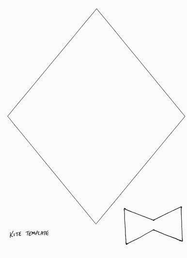 printable kites templates kite template preschool pinterest kite template and