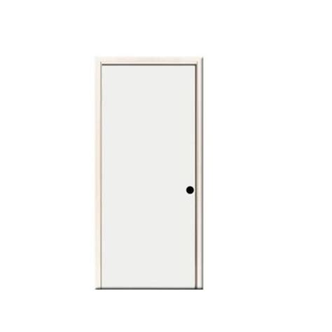 24 X 80 Exterior Door Steves Sons 24 In X 80 In Premium Flush Primed White Left Outswing Steel Prehung Front