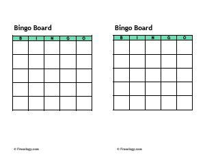blank bingo cards template freeology