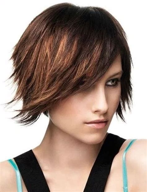 haircuts for straight hair 2016 sassy short black hairstyles with side bangs for women